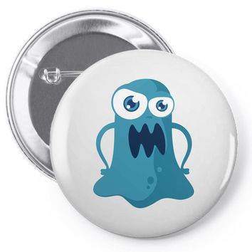 angry monster Pin-back button