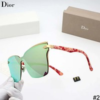 DIOR 2018 new slim driving women's personality polarized color film sunglasses #2