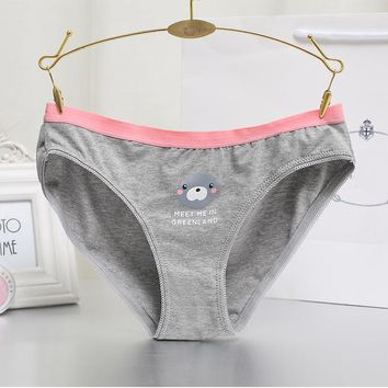 Charming Women Lace Briefs Lady Love Sexy Pink Heart Panties Women's Low Waist Intimates Cotton Underwear Free Shiping