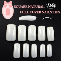 1bags/ lot Fake Nails Full Cover Long False Nail Art Tips Acrylic Square Nail Tip