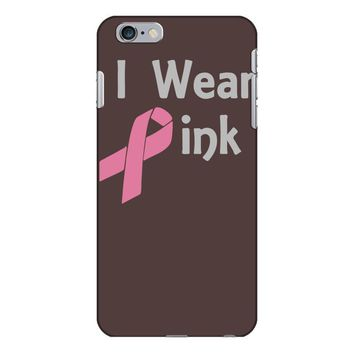 junior's breast cancer awareness i wear pink iPhone 6/6s Plus Case