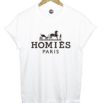 FREE SHIPPING HOMIES paris t shirt tee top womens mens girls fashion style trends vtg retro indie swag handmade tumblr high oversized new