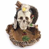 Ashtray Witch Skull Skeleton Accessories Cigarette Ash Holder