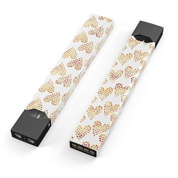 The Tiny Yellow Hearts of a Whole - Premium Decal Protective Skin-Wrap Sticker compatible with the Juul Labs vaping device