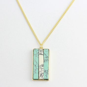 Multicolor Marble Stylish Fashion Necklace Jewelry