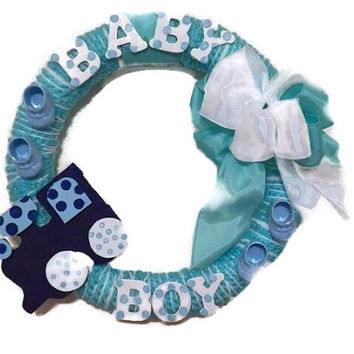 Shop baby shower door decorations on wanelo for Baby boy hospital door decoration