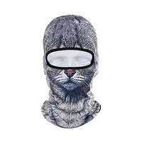 3D Cute Animal Outdoor Skis Hat Balaclava Sports Cat Dog Tiger (1)