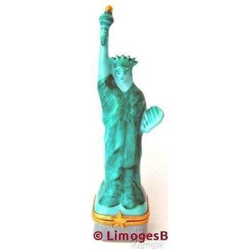 Statue Of Liberty:Green-Blue Limoges Box