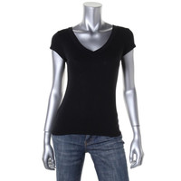 INC Womens Petites Knit V Neck T-Shirt