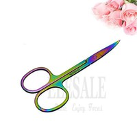 ONETOW 1-5Pcs Color Stainless Steel Mini Scissors For Makeup Eyebrow Eyelashes Cut First Aid Kits Supplies Hand Craft Scissors