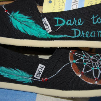 Dare to Dream TOMS by ShoeDesignsByAllison on Etsy