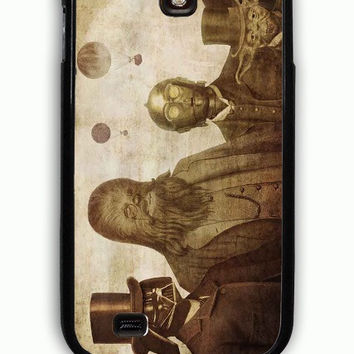 Samsung Galaxy S4 Case - Rubber (TPU) Cover with Boba Fett C 3PO Darth Vader Yoda And Chewbacca Star Wars Rubber Case Design