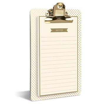 Cream and Gold Clipboard Notepad