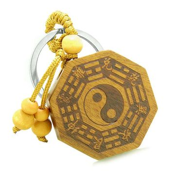 Amulet Yin Yang BaGua Eight Trigrams Magic Powers Lucky Charms Feng Shui Symbols Keychain Blessing