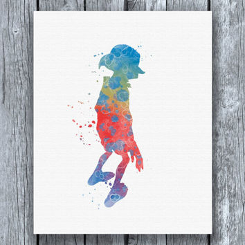 Dobby Harry Potter Watercolor Art Print Instant Download
