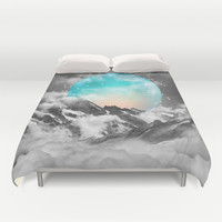 It Seemed To Chase the Darkness Away (Guardian Moon) Duvet Cover by soaring anchor designs ⚓ | Society6