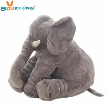 40cm/60cm Large Plush Elephant Doll Kids Sleeping Soft Back Cushion Cute Stuffed Elephant Baby Accompany Doll Xmas Gift