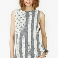 Faded Flag Muscle Tee