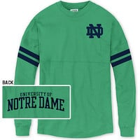 A1520E Sporty Stripe Ra Ra Football Tee | University Of Notre Dame