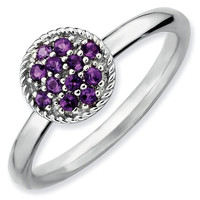 Amethyst Cluster Stackable Ring