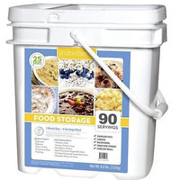 Lindon Farms 270 Servings Grab & Go Food Bucket + Free Sawyer SP128 Water Filter