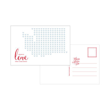 Sending Love From Washington Letterpress Postcard Set