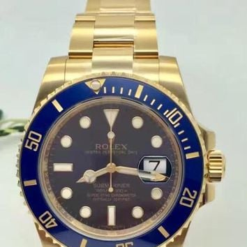Rolex Quartz Watches Wrist Watch Blue