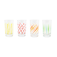 Pattern Play Glasses - Set of 4