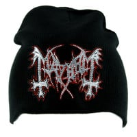 Mayhem Norwegian Black Metal Beanie Alternative Clothing Knit Cap Heavy Music