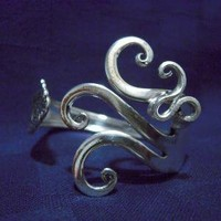 Silver Fork Bracelet in Original Fancy Design by MarchelloArt