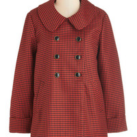 Darling Vintage Inspired Long Long Sleeve Double Breasted Morning Commute Cute Coat