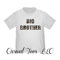 Big Brother in Camo Toddler Tee or Baby Bodysuit