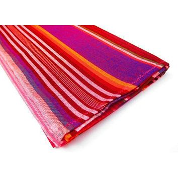 Red Mexican Table Runner, Serape Fabric fiesta table decorations, Cinco de Mayo, SARAPE02