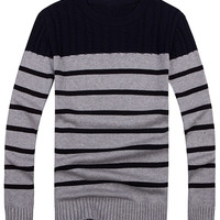 Striped Printed Knitted Sweater