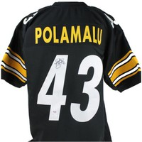 Troy Polamalu Signed Autographed Pittsburgh Steelers Football Jersey (JSA COA)