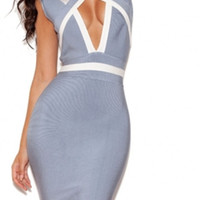 Sky Blue Bandage Dress