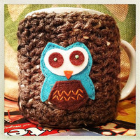Crochet Coffee Cup Cozy Ready to ship~ Free shipping