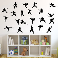 Martial Arts Wall Decal Sticker 24 - Set of Twenty One