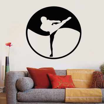 Wall Stickers Vinyl Decal Karate Combat Sports Oriental Martial Arts Unique Gift (ig262)