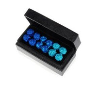 Shades of Blue Silk Knot Cuff Links Trio-CL-SK-0006