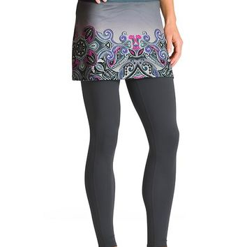 Athleta Womens Printed Power Mesh CYA Skirt Size XXS - Black snow valley