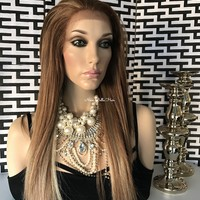 """Athens Glamour Human Hair Blend Multi Parting Lace Front Wig 18"""""""
