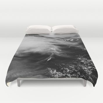 WAVES B&W Duvet Cover by TIMO KAHL