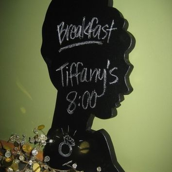 Audrey Hepburn (Holly Golightly) Silhouette Chalkboard
