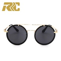 RRC 2018 Round Sunglasses Women Vintage Retro Small Round Sunglasses Black Sun Glasses For Men Round Sunglass Steampunk