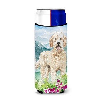 Mountain Flowers Goldendoodle Michelob Ultra Hugger for slim cans CK2537MUK