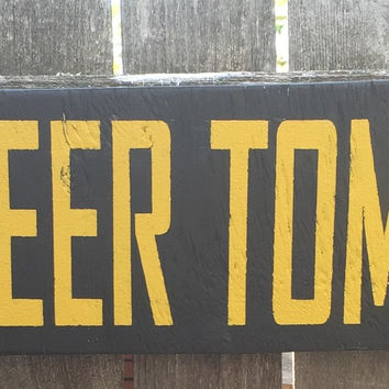 Bar Sign, Free Beer Tomorrow Sign, Man Cave Sign, Humor Sign