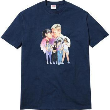 Supreme Kiss Tee - Navy