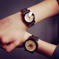 Comfortable Vintage Fashion Quartz Classic Watch Round Ladies Women Men wristwatch On Sales = 4662265348