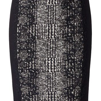 Marc Cain Skirt with mixed materials | marc-cain.com/en